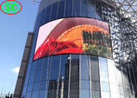 6500cd Brightness Outdoor Advertising LED Screens Arc Video Wall Curved P10