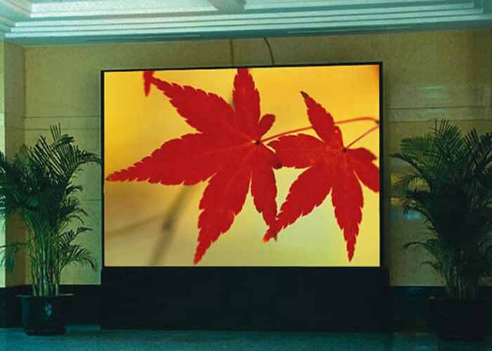 P2 Indoor Full Color LED Display With Meanwell Power Supply , 250000/Sqm Density