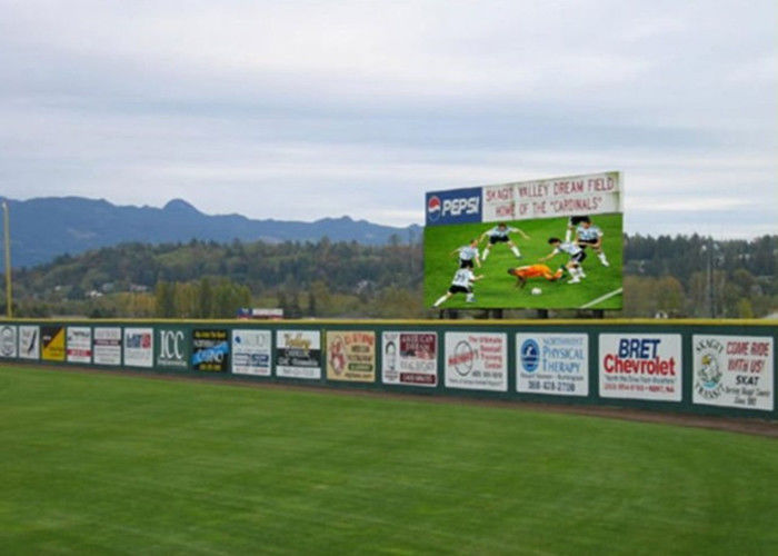 LED Advertising Display Screens For Football Stadium , Large Led Video Display Board