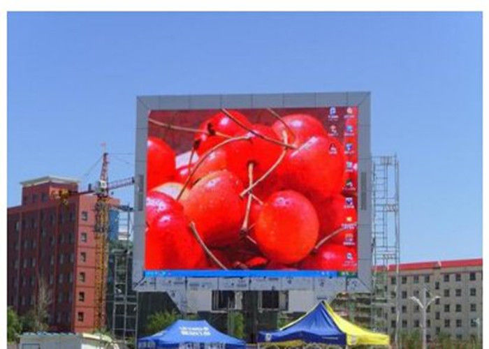 Giant Commercial Outdoor Led Advertising Screens Waterproof High Resolution Full Color