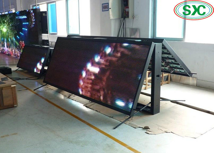 DIP P10 Full Color Outdoor Led Display Double Sided Screen 1.92x1.12m Programmable