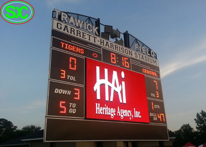 P10 HD 1R1G1B Large Stadium Perimeter Led Display Billboard 4G Control System
