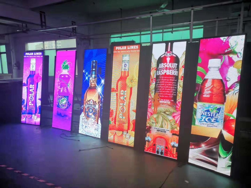 1500 Nits Poster Indoor LED Billboard Ultra Thin Light Weight Advertising Screen