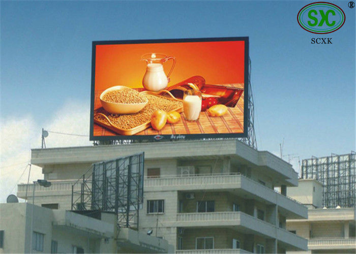 High resolution HD Big railway / school P16mm LED display outdoor advertising